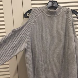 H&M cutout shoulder rubbed sweater